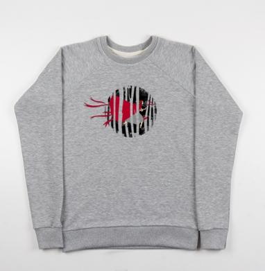 Red riding hoooood - Купить детские свитшоты серые в Москве, цена детских свитшотов серых с прикольными принтами - магазин дизайнерской одежды MaryJane