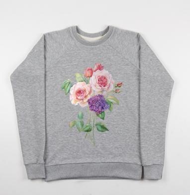 Розы и гортензия - Купить детские свитшоты с роами в Москве, цена детских свитшотов с розой с прикольными принтами - магазин дизайнерской одежды MaryJane