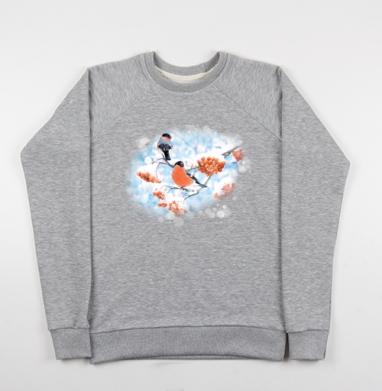 Снегири - Купить детские свитшоты ретро в Москве, цена детских свитшотов ретро  с прикольными принтами - магазин дизайнерской одежды MaryJane