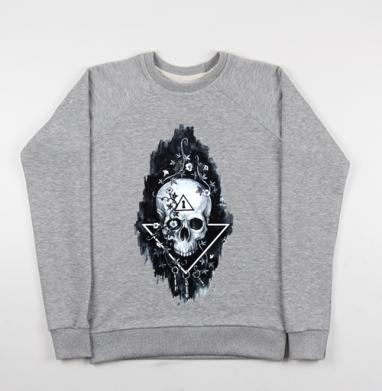 Тайна черепа - Купить детские свитшоты с черепом в Москве, цена детских свитшотов с черепом  с прикольными принтами - магазин дизайнерской одежды MaryJane