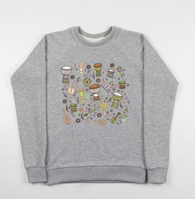Укулеле-мания - Купить детские свитшоты музыка в Москве, цена детских свитшотов музыкальных  с прикольными принтами - магазин дизайнерской одежды MaryJane