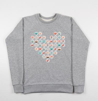 Valentine's day - Купить детские свитшоты романтика в Москве, цена детских свитшотов романтических  с прикольными принтами - магазин дизайнерской одежды MaryJane