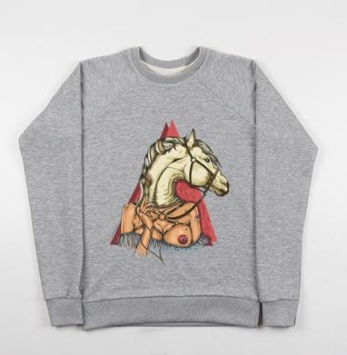 White horse - Купить детские свитшоты с символами в Москве, цена детских свитшотов с символом с прикольными принтами - магазин дизайнерской одежды MaryJane