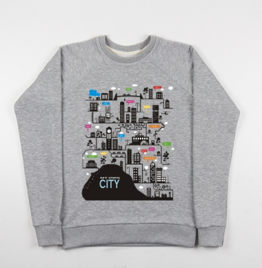 My own city - Купить детские свитшоты с горами в Москве, цена детских свитшотов с горами с прикольными принтами - магазин дизайнерской одежды MaryJane