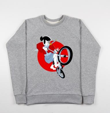 Путь самурая - Купить детские свитшоты с велосипедом в Москве, цена детских свитшотов с велосипедом с прикольными принтами - магазин дизайнерской одежды MaryJane