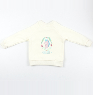 Единорожек Билив - Cвитшот Детский Экрю 320гр, стандарт, Популярные