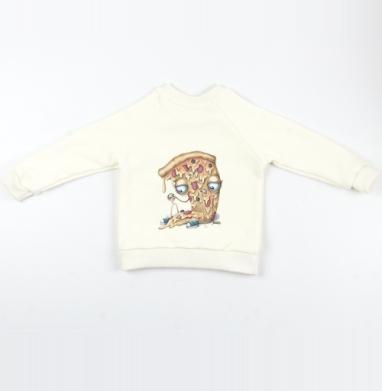 Кусочек пиццы - Cвитшот Детский Экрю 320гр, стандарт, Популярные