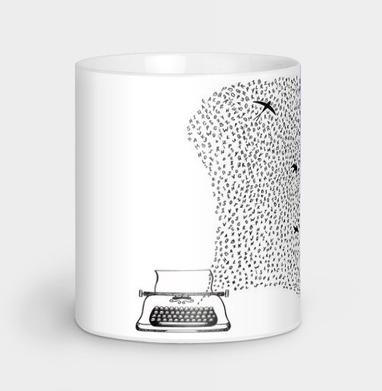 Печатная машинка  - Кружки с логотипом
