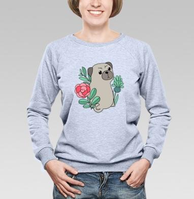 Мопс -  - Купить детские свитшоты с собаками в Москве, цена детских свитшотов с собаками  с прикольными принтами - магазин дизайнерской одежды MaryJane