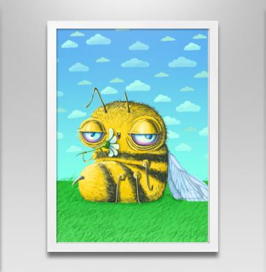 Пчела с ромашкой - Постеры, алкоголь, Популярные