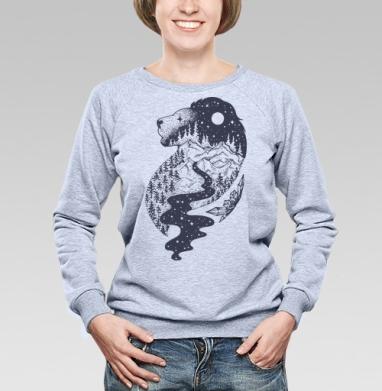 Таинственный лев - Купить детские свитшоты с горами в Москве, цена детских свитшотов с горами с прикольными принтами - магазин дизайнерской одежды MaryJane