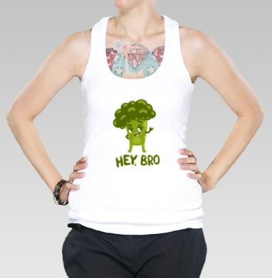 Борцовка женская белая рибана 200гр, белый - Интернет магазин футболок №1 в Москве