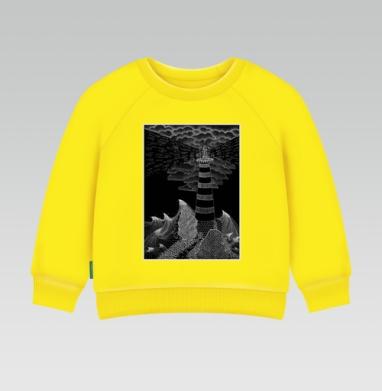 Маяк бури, Cвитшот Детский желтый 240гр, тонкая
