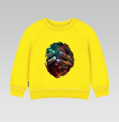 Пробуждение разума, Cвитшот Детский желтый 240гр, тонкая