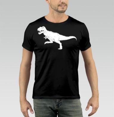 Футболка мужская чёрная 180гр - Тираннозавр Рекс