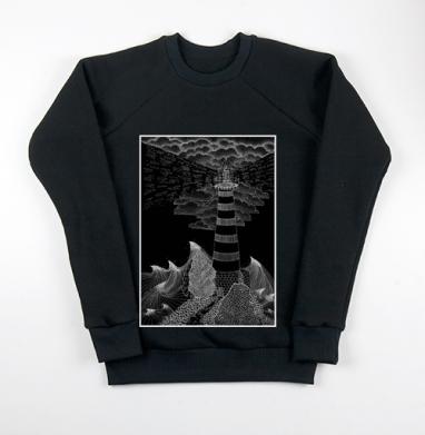Маяк бури, Свитшот мужской черный 340гр, теплый