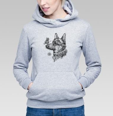 Пес-путешественник во времени - Купить детские толстовки с бабочками в Москве, цена детских толстовок с бабочкой с прикольными принтами - магазин дизайнерской одежды MaryJane