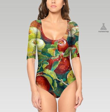 Боди женское средний рукав - Яблочный спас