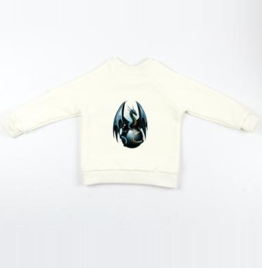 Дракон на стеклянном шаре - Cвитшот Детский Экрю 320гр, стандарт, Популярные