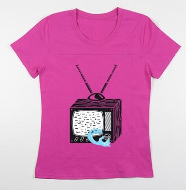 Футболка женская фуксия - ТV-shirt