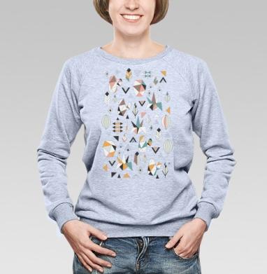 Геометриксуккулентс - Купить женские свитшоты с природой в Москве, цена женских свитшотов с природой  с прикольными принтами - магазин дизайнерской одежды MaryJane