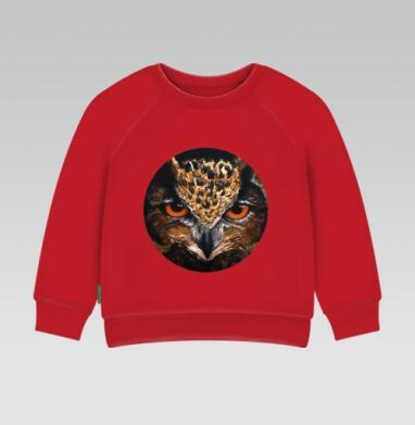 Cвитшот Детский ярко-красный 240гр, тонкий - Филин