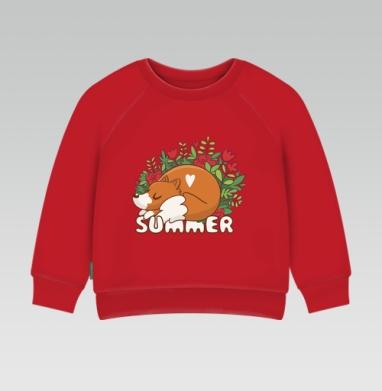 Cвитшот Детский ярко-красный 240гр, тонкий - Летняя