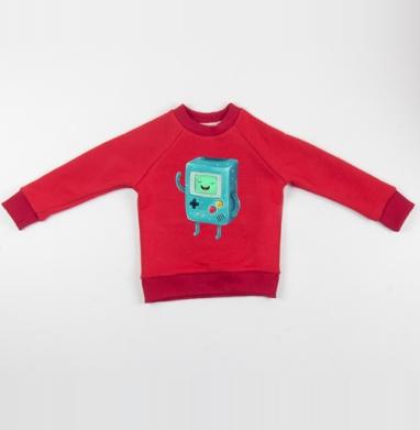 Cвитшот Детский красный 340гр, теплый - Бимо