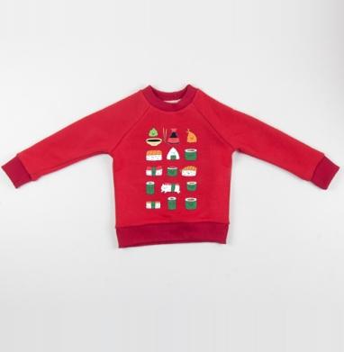 Кавайсуши - Cвитшот Детский красный 340гр, теплый, Популярные