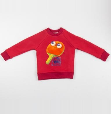 Cвитшот Детский красный 340гр, теплый - Пинг-понг дример