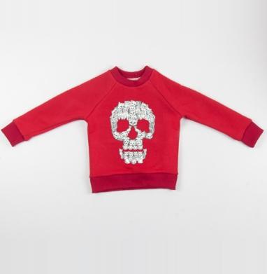 Сильная и независимая - Cвитшот Детский красный 340гр, теплый, Популярные