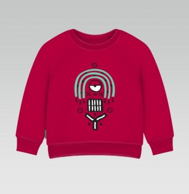 Cвитшот Детский темно-красный 340гр, теплый - Ethnic monster