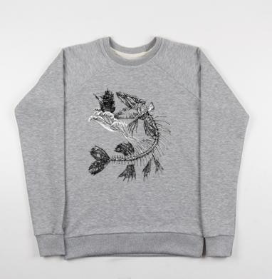 Голодная рыбка - Купить мужские свитшоты морские  в Москве, цена мужских свитшотов морских   с прикольными принтами - магазин дизайнерской одежды MaryJane