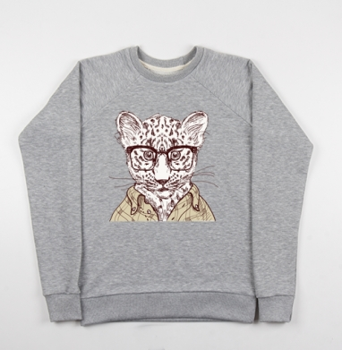 Hipster wild - Купить мужские свитшоты ретро в Москве, цена мужских свитшотов ретро  с прикольными принтами - магазин дизайнерской одежды MaryJane