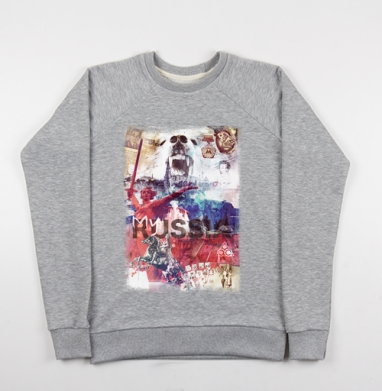 Моя Россия - Купить мужские свитшоты Россия в Москве, цена мужских свитшотов Россия  с прикольными принтами - магазин дизайнерской одежды MaryJane