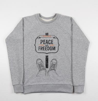 Peace and Freedom - Купить мужские свитшоты свобода в Москве, цена мужских свитшотов свобода  с прикольными принтами - магазин дизайнерской одежды MaryJane