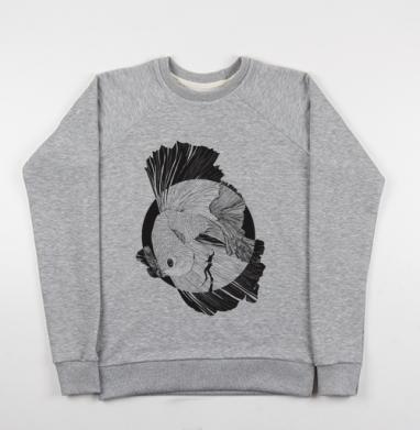 Рыбка  - Купить мужские свитшоты морские  в Москве, цена мужских свитшотов морских   с прикольными принтами - магазин дизайнерской одежды MaryJane