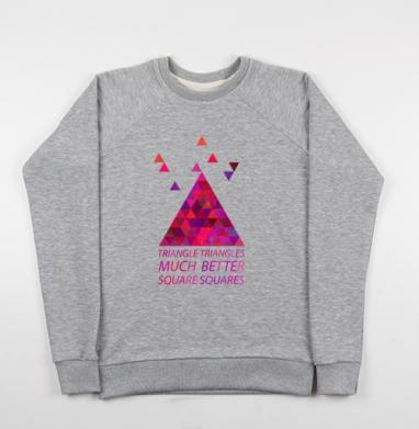 Треугольные треугольнички - Купить мужские свитшоты ретро в Москве, цена мужских свитшотов ретро  с прикольными принтами - магазин дизайнерской одежды MaryJane