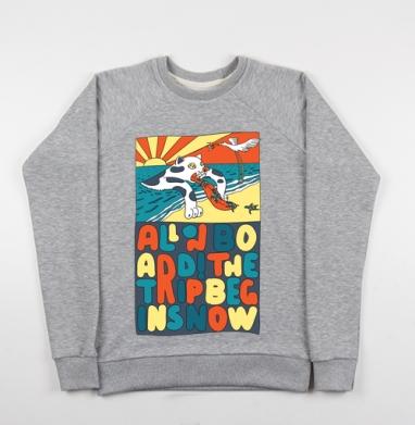Все на борт - Купить мужские свитшоты морские  в Москве, цена мужских свитшотов морских   с прикольными принтами - магазин дизайнерской одежды MaryJane
