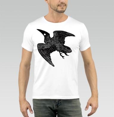 Ворон - Футболка мужская белая 180гр