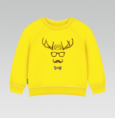 Рога-копыта, Cвитшот Детский желтый 240гр, тонкая