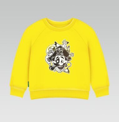 Cвитшот Детский желтый 240гр, тонкая - ВесЁлый Пират