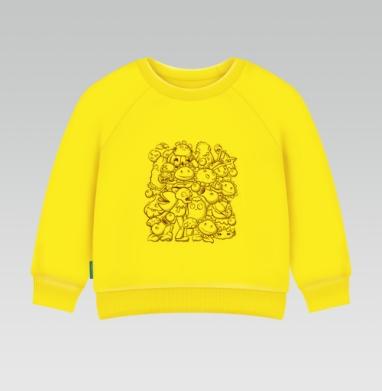 Зомби против растений  , Cвитшот Детский желтый 240гр, тонкая