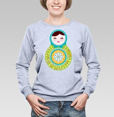 Матрешки - полная запечатка - Купить детские свитшоты паттерн в Москве, цена детских свитшотов с паттерном  с прикольными принтами - магазин дизайнерской одежды MaryJane