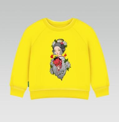 Майко , Cвитшот Детский желтый 240гр, тонкая