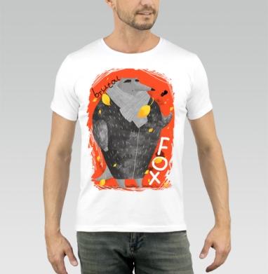 Брутальный лис - Купить мужские футболки осень в Москве, цена мужских футболок осенних  с прикольными принтами - магазин дизайнерской одежды MaryJane