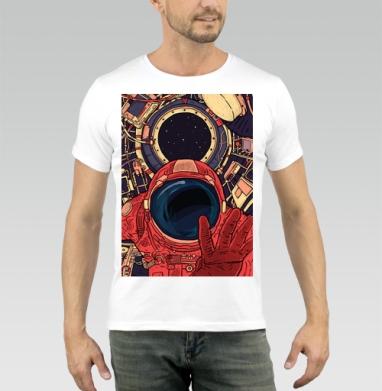 Гиперпространство - Купить мужские футболки с космосом в Москве, цена мужских футболок с космосом  с прикольными принтами - магазин дизайнерской одежды MaryJane