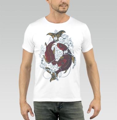 Красные карпы - Купить мужские футболки с китами в Москве, цена мужских футболок с китом с прикольными принтами - магазин дизайнерской одежды MaryJane