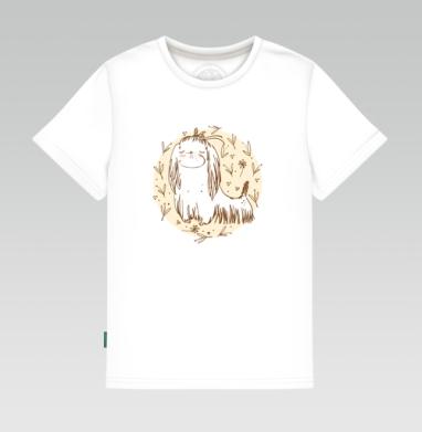 Детская футболка белая 160гр - Счастливая собачка