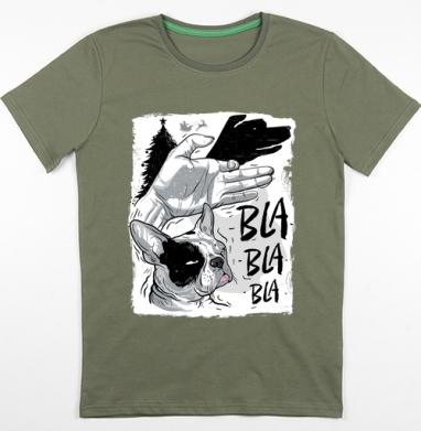 Футболка мужская хаки 180гр, хаки - Интернет магазин футболок №1 в Москве